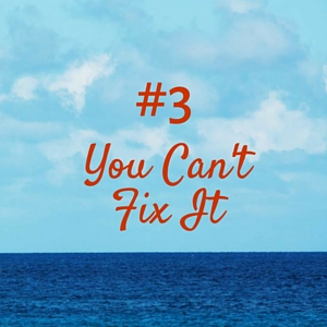 When you think your work is a luxury, you can't do anything to fix the problem