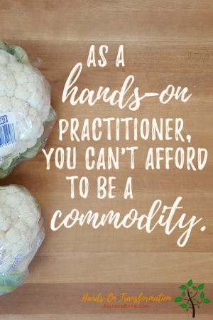 You can't afford to be a commodity